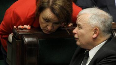 Anna Zalewska i Jarosław Kaczyński w Sejmie
