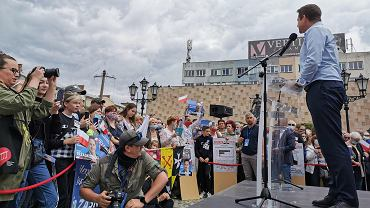 Wybory prezydenckie 2020. Gorzów, 8 lipca 2020. Wiec Rafała Trzaskowskiego