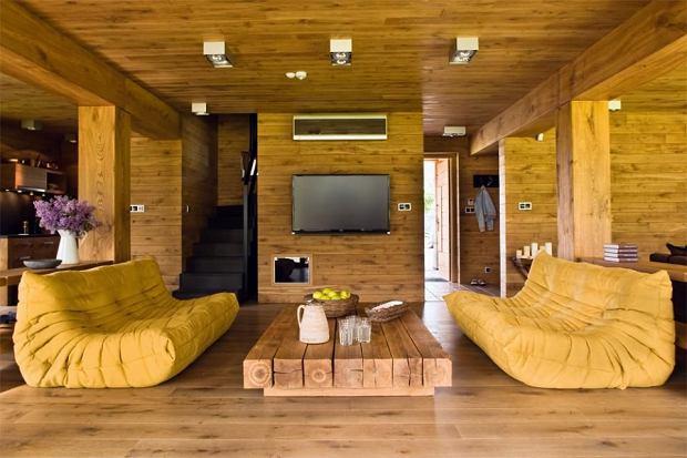 Drewniany dom na wakacje