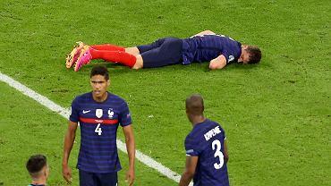 Chwile grozy w meczu Francja - Niemcy.