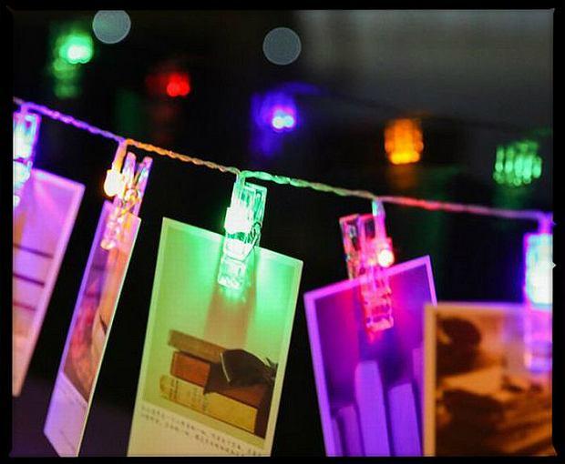 Podświetlane lampki z uchwytami na zdjęcia, cena: 10,96 dol. Fot. AliExpress