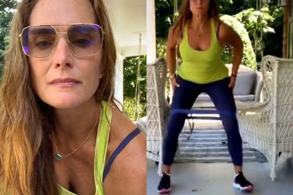 Brooke Shields - trening na pośladki