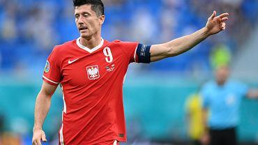 Robert Lewandowski podczas meczu Polska - Szwecja na Euro 2020. St. etersburg, Rosja, 23 czerwca 2021