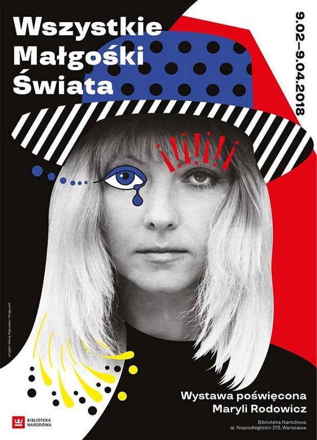 plakat wystawy 'Wszystkie Małgośki Świata' w Bibliotece Narodowej w Warszawie