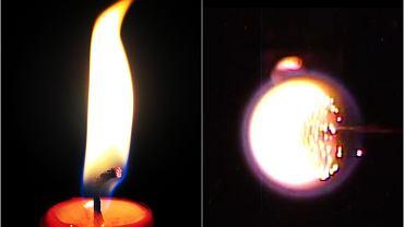Płomień na Ziemi i płomień w kosmosie