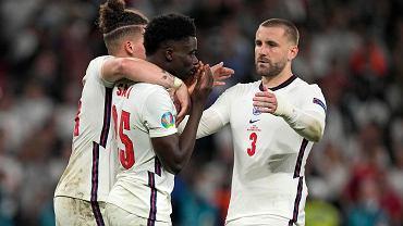 Euro 2020. Piłkarze reprezentacji Anglii podczas finałowego meczu z Włochami