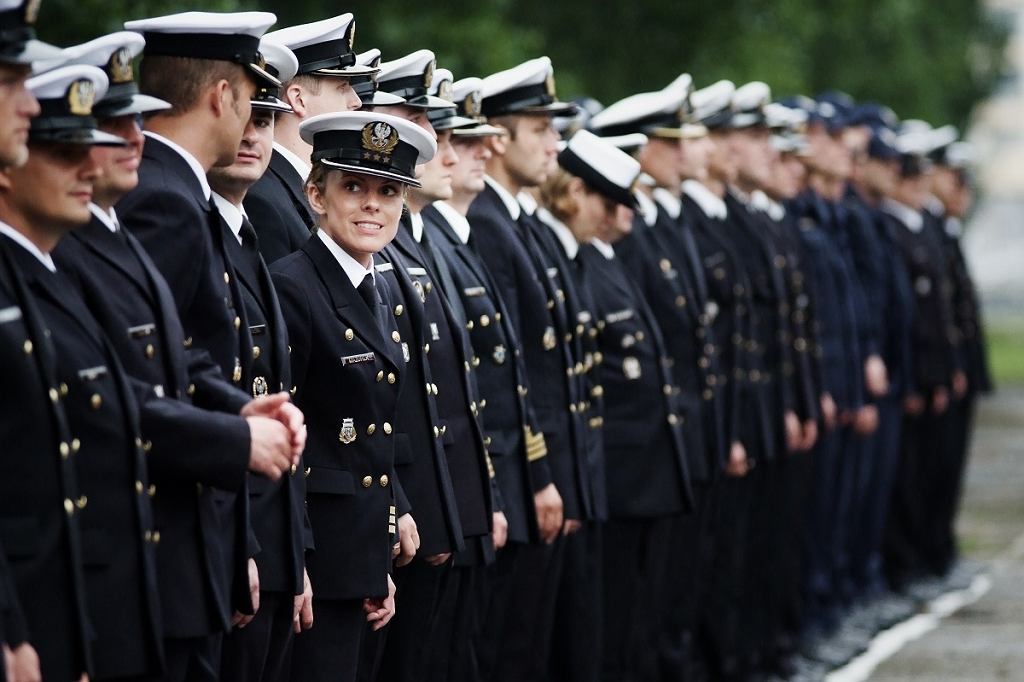 Katarzyna Mazurek podczas jednej z uroczystości Marynarki Wojennej
