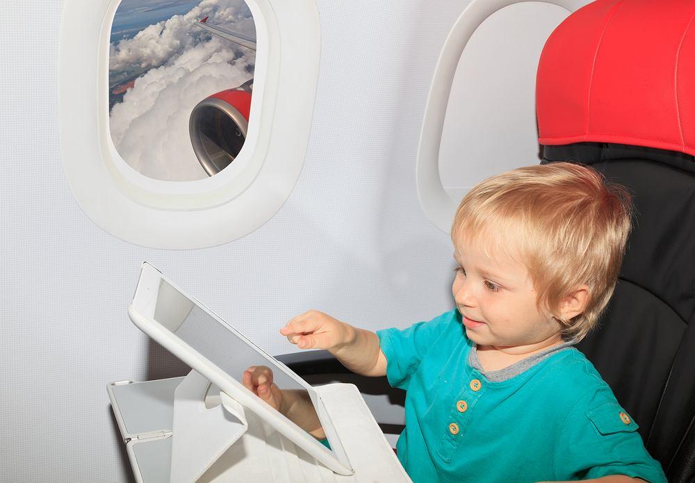 Dzieci często płaczą podczas lotu