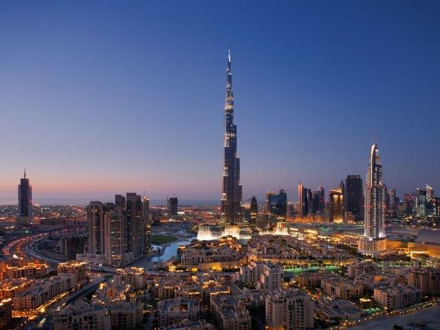 Burj Khalifa i panorama miasta