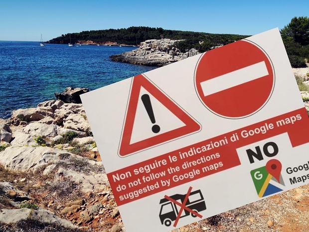 """Nietypowe tablice na Sardynii. """"Nie podążajcie za wskazówkami Google Maps"""""""