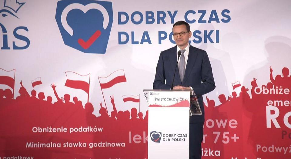 Wybory parlamentarne 2019. Mateusz Morawiecki w Świętochłowicach