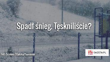 Śnieg w Małopolsce