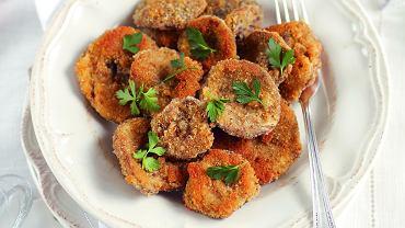 Kapelusze grzybów w cieście - postne danie wigilijne