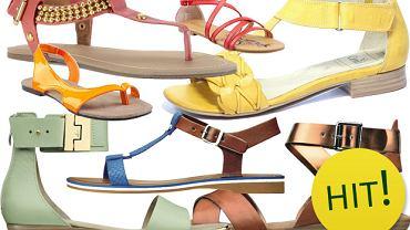 Płaskie sandały - ponad 130 propozycji