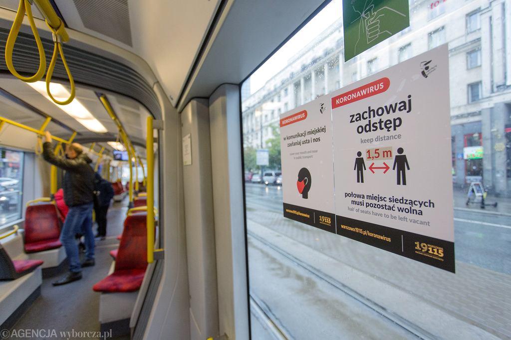 Tramwaj w Warszawie, pierwszy dzień obowiązywania czerwonej strefy w stolicy.