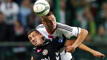 Artur Jędrzejczyk i Paweł Wszołek podczas meczu Legia - Polonia