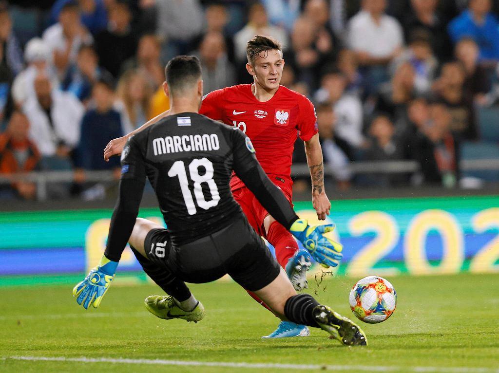 Sebastian Szymański i Ofir Marciano Mecz Izrael - Polska. Jerozolima, 16 listopada 2019
