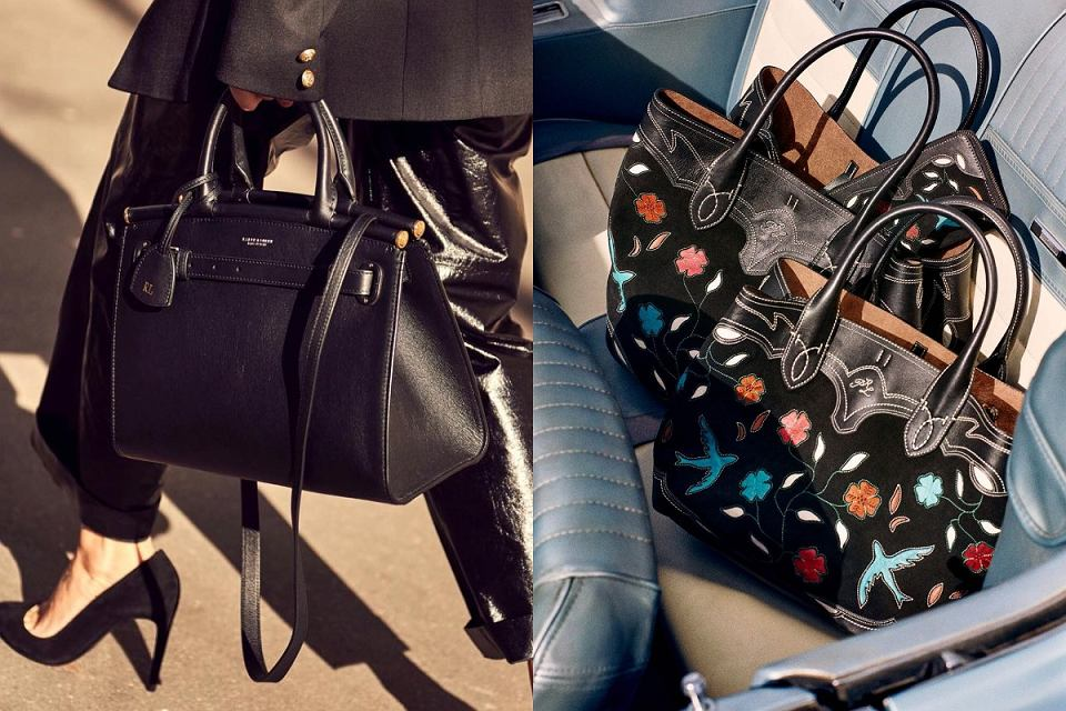 Czarne torebki shopperki