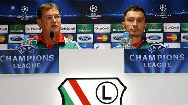 Sala konferencyjna na stadionie Legii w kolorystce Champions League