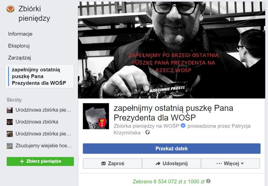 Zbiórka prowadzona na Facebooku przez Patrycję Krzemińską