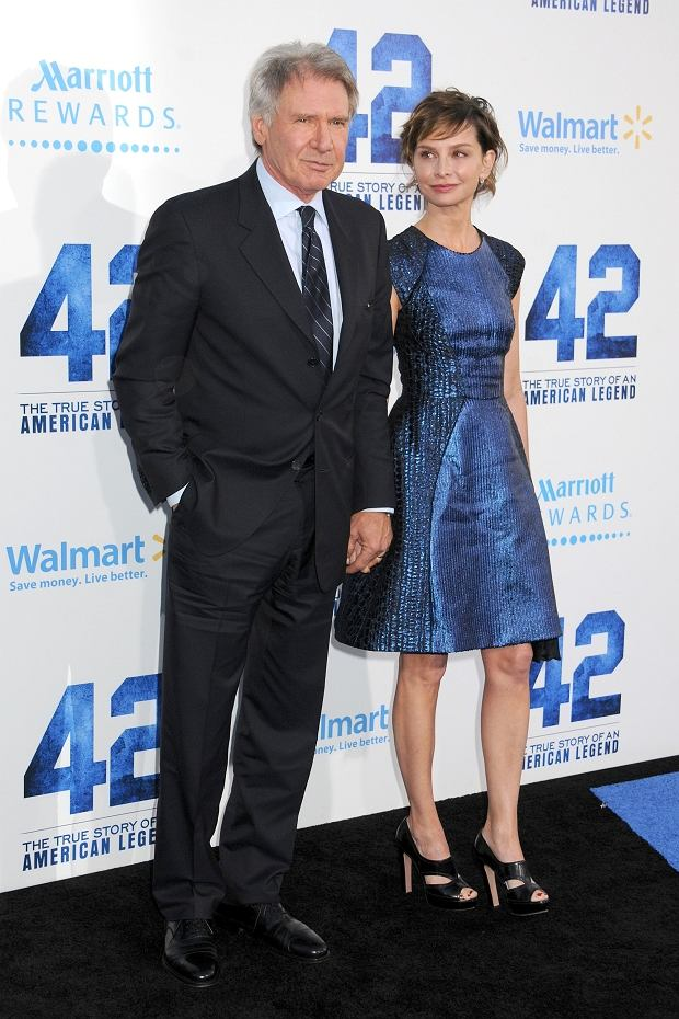 "Harrison Ford, Calista Flockhart attending ""42"" Los Angeles Premiere held at the TCL Chinese Theatre in Hollywood, CA, USA, on April 9, 2013. Photo by Andre Michel/DLM Press"