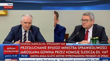 Jarosław Gowin przed komisją ds. VAT