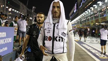 Robert Kubica podczas mistrzostw F1 w Singapurze, wrzesień 2019