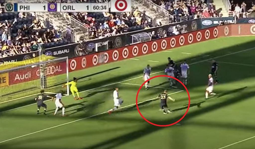 Kacper Przybyłko zdobywa dwie bramki w meczu MLS