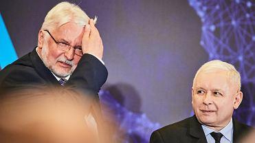 Witold Waszczykowski i Jarosław Kaczyński podczas konwencji PiS. Łódź, 17 września 2019 r.