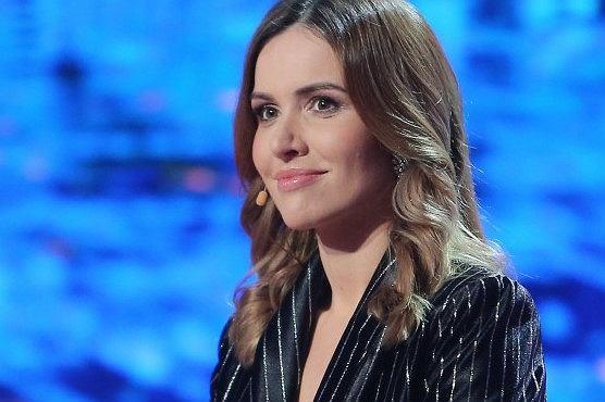Marta Żmuda Trzebiatowska na nagraniach programu 'Jaka to melodia?'