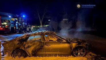 Niemcy. W miejscowości Löcknitz podpalono samochód na polskich tablicach rejestracyjnych