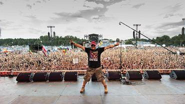 A gdybyśmy zrobili Woodstock w Polsce? - zapytałem w 1994 r. kolegów i usłyszałem to, co słyszałem w życiu wielkokrotnie: 'Jurek, zwariowałeś'.  Na zdjęciu: Jerzy Owsiak na Woodstocku w 2017 r.