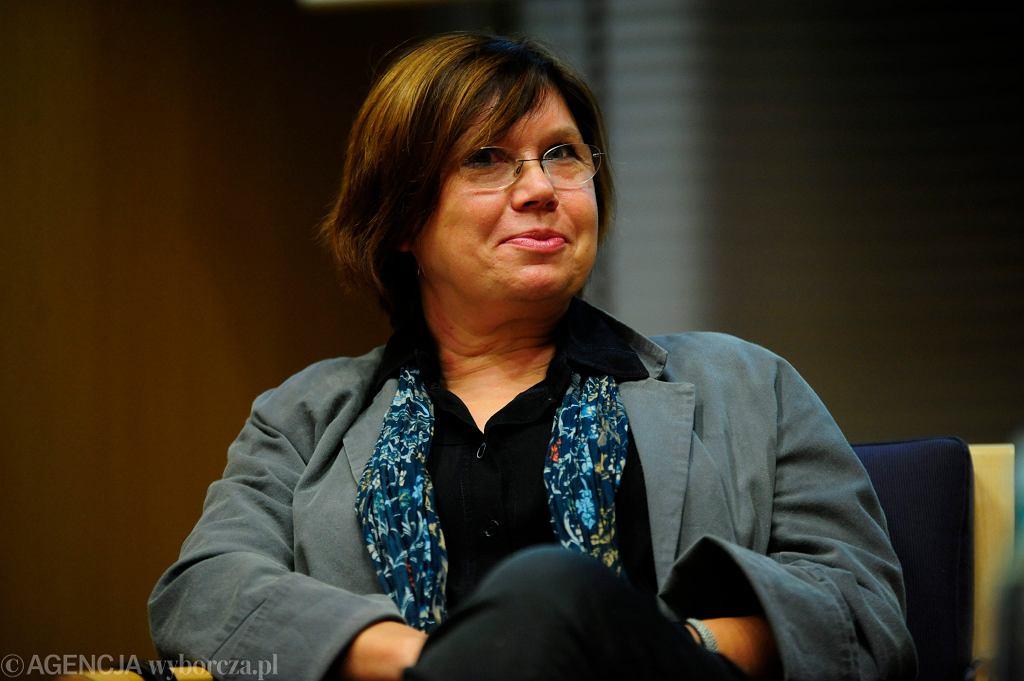 Prof. Barbara Engelking podczas spotkania poświęconego książce 'Klucze i Kasa'