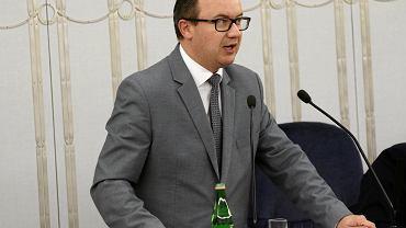 Rzecznik Praw Obywatelskich Adam Bodnar  podczas posiedzenia Senatu, Warszawa 24.07.2018