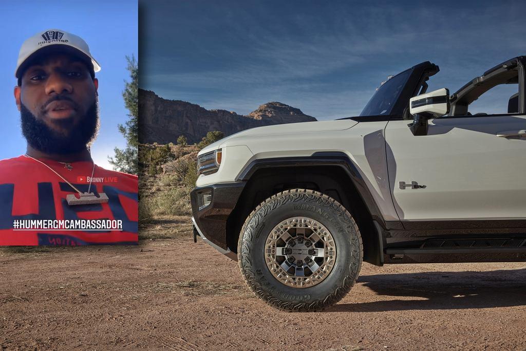 LeBron James i GMC Hummer EV