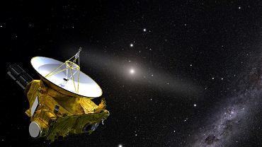 Sonda New Horizons z dala od Słońca - wizja artysty
