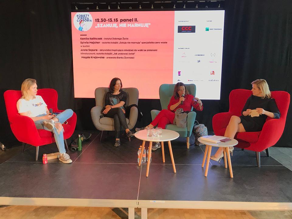 Panel 'Szanuję, nie marnuję' podczas konferencji 'Kobiety wiedzą, co robią' w Warszawie