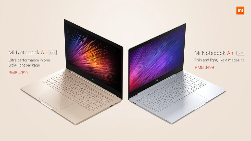 Laptopy Xiaomi Mi Notebook Air