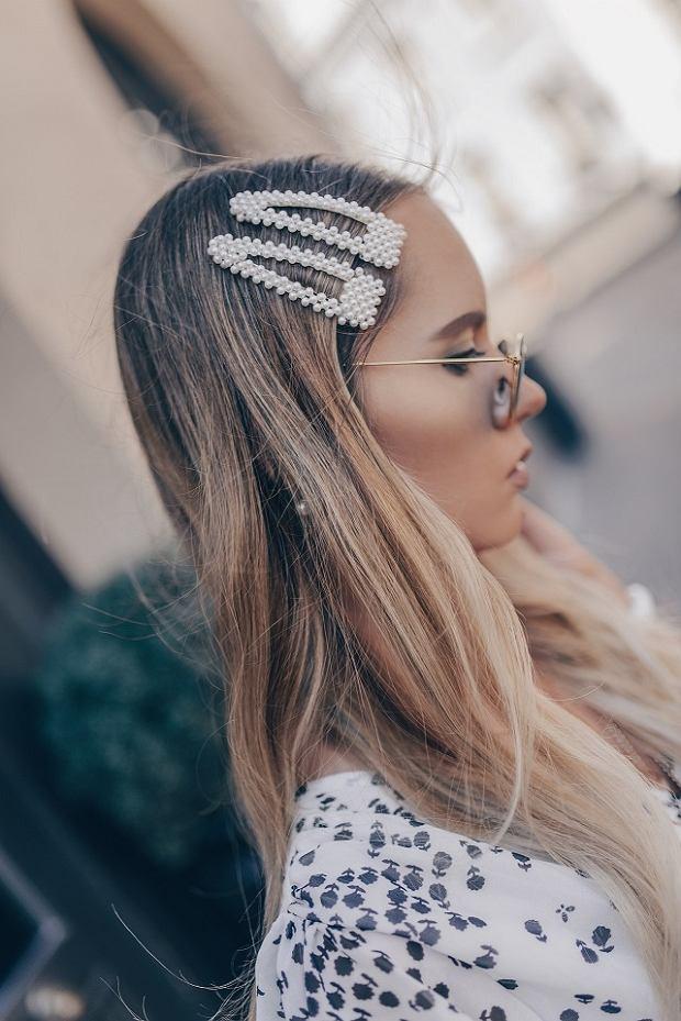 Ozdoby do włosów z perłami