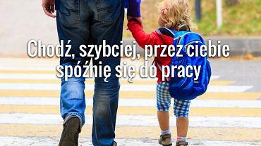Rodzic odprowadza dziecko