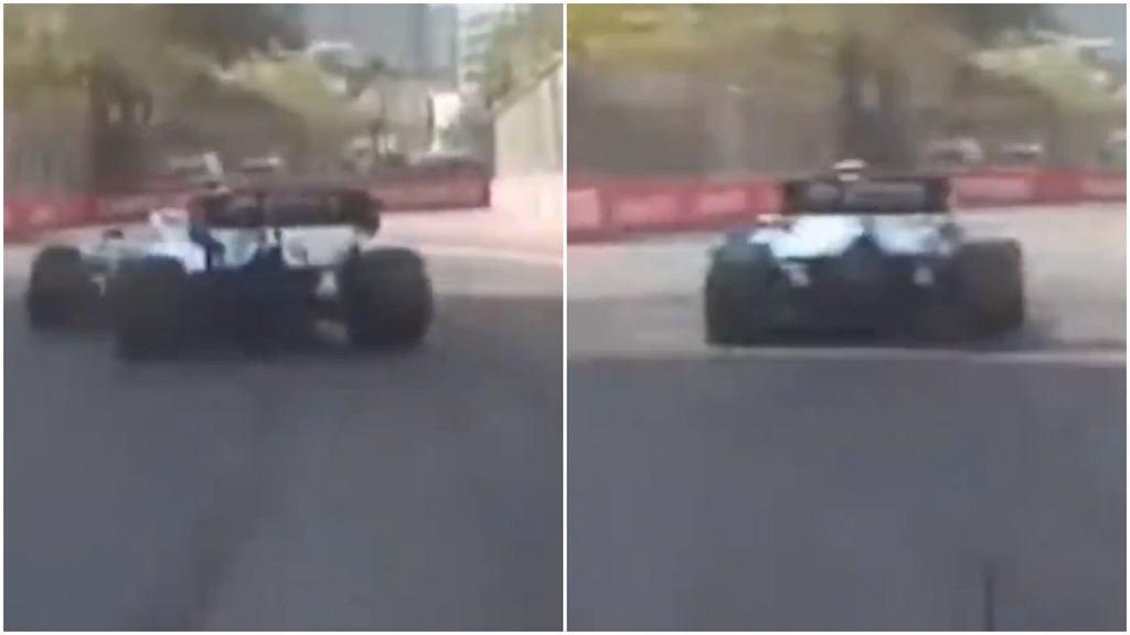 Problemy bolidu Williamsa. Robert Kubica o krok od wypadku