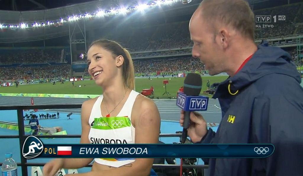 Ewa Swoboda w rozmowie z TVP