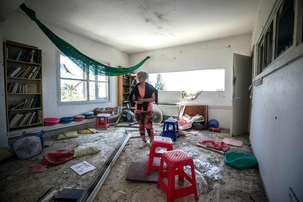 Zniszczenia po izraelskiej stronie