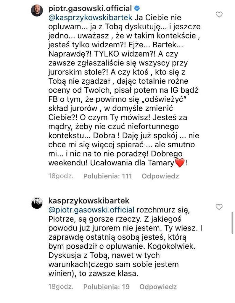 Komentarze Piotra Gąsowskiego i Bartka Kasprzykowskiego