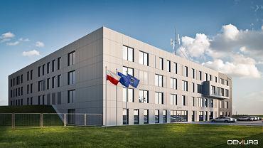 Wizualizacja nowej Komendy Policji w Sosnowcu