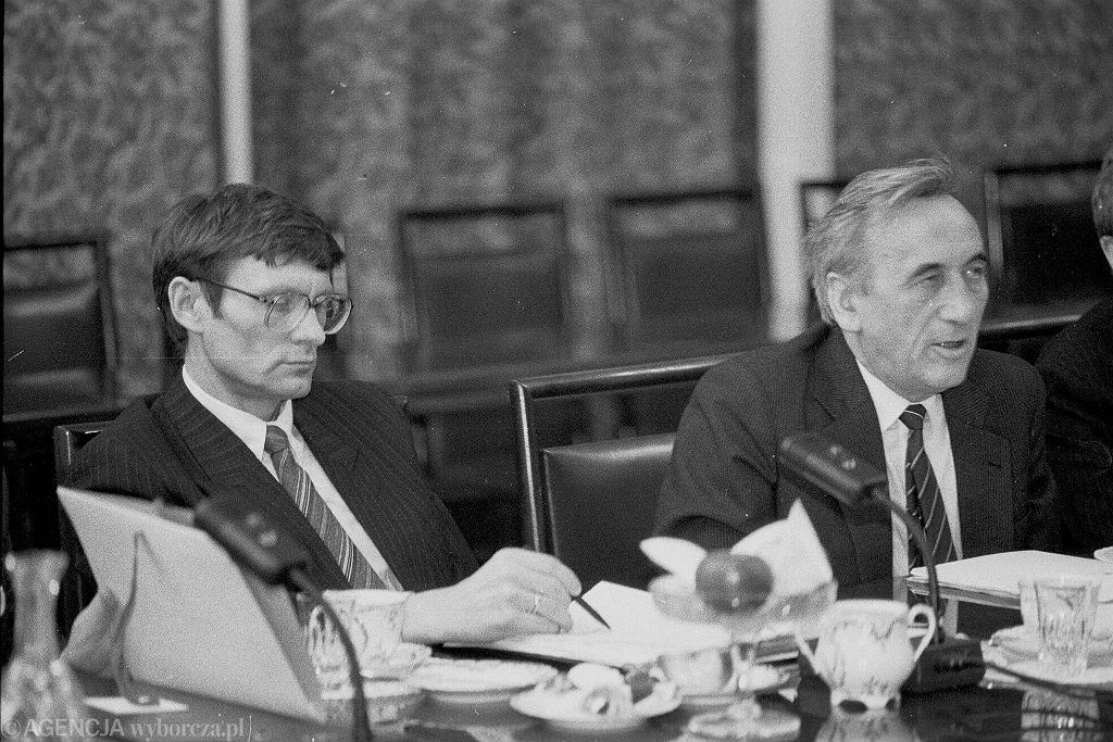1989, Leszek Balcerowicz i Tadeusz Mazowiecki