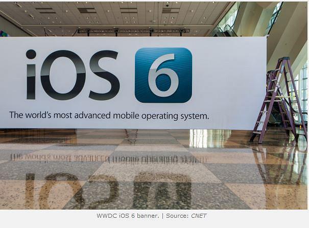 WWDC 2012 - baner zdradzający nowy system na urządzenia mobilne (i jego nowe logo)