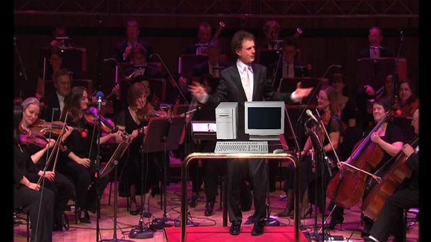 Orkiestra zagrała dźwięki z Windowsa XP
