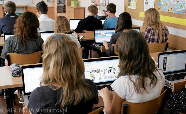 Lekcja z szkole w Olsztynie