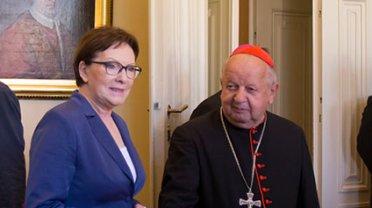 Premier Ewa Kopacz podczas spotkania z kardynałem Stanisławem Dziwiszem